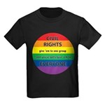 CIVIL RIGHTS EVERYONE Kids Dark T-Shirt