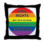 CIVIL RIGHTS EVERYONE Throw Pillow