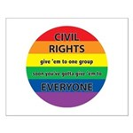 CIVIL RIGHTS EVERYONE Small Poster