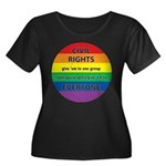 CIVIL RIGHTS EVERYONE Women's Plus Size Scoop Neck