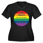 CIVIL RIGHTS EVERYONE Women's Plus Size V-Neck Dar