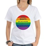 CIVIL RIGHTS EVERYONE Women's V-Neck T-Shirt