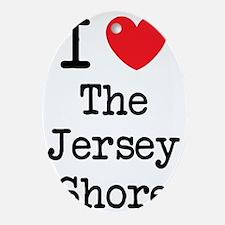 I love the jersey shore Oval Ornament
