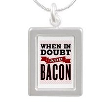 Add Bacon Silver Portrait Necklace