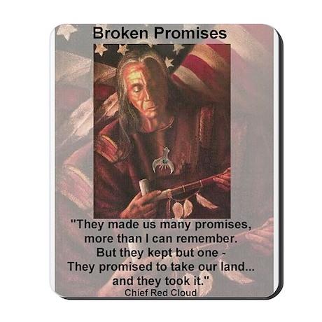 Broken Promises Mousepad