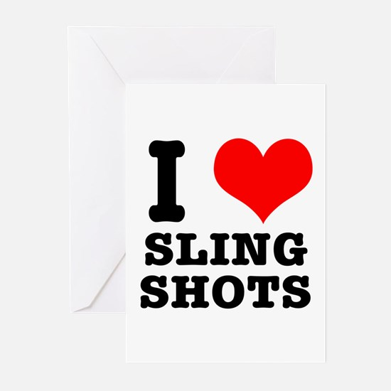 I Heart (Love) Sling Shots Greeting Cards (Package