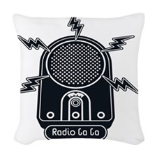 Radio Ga Ga Woven Throw Pillow