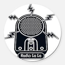 Radio Ga Ga Round Car Magnet