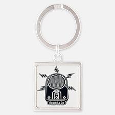Radio Ga Ga Square Keychain