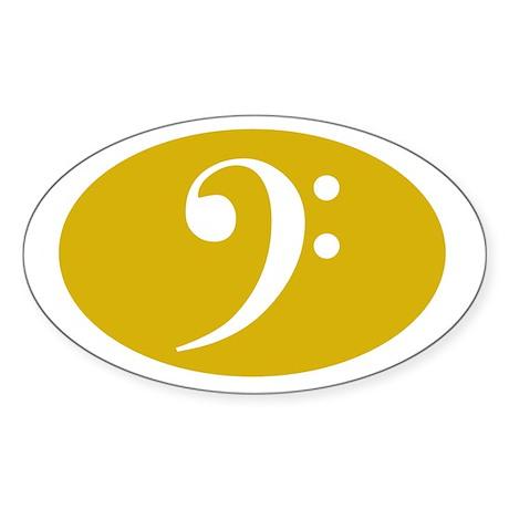 Bass Clef Sticker (gold)
