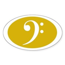 Bass Clef Sticker (gold)