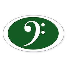 Bass Clef Sticker (green)