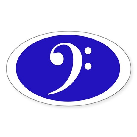 Bass Clef Sticker (blue)