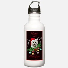 Westy Christmas Card Water Bottle