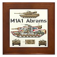 M1A1 Abrams MBT Cutaway Framed Tile