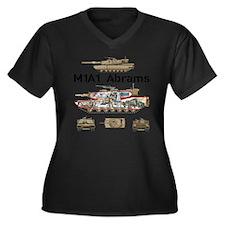 M1A1 Abrams  Women's Plus Size Dark V-Neck T-Shirt