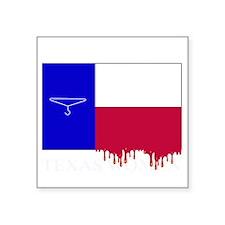 "Texas Women white letters Square Sticker 3"" x 3"""