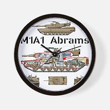 M1A1 Abrams MBT Cutaway Wall Clock