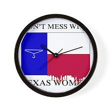 Texas Women Wall Clock