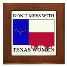 Texas Women Framed Tile
