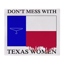 Texas Women Throw Blanket
