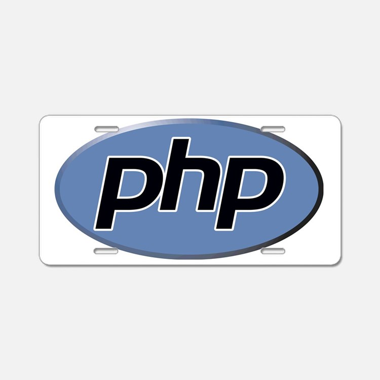 php Aluminum License Plate