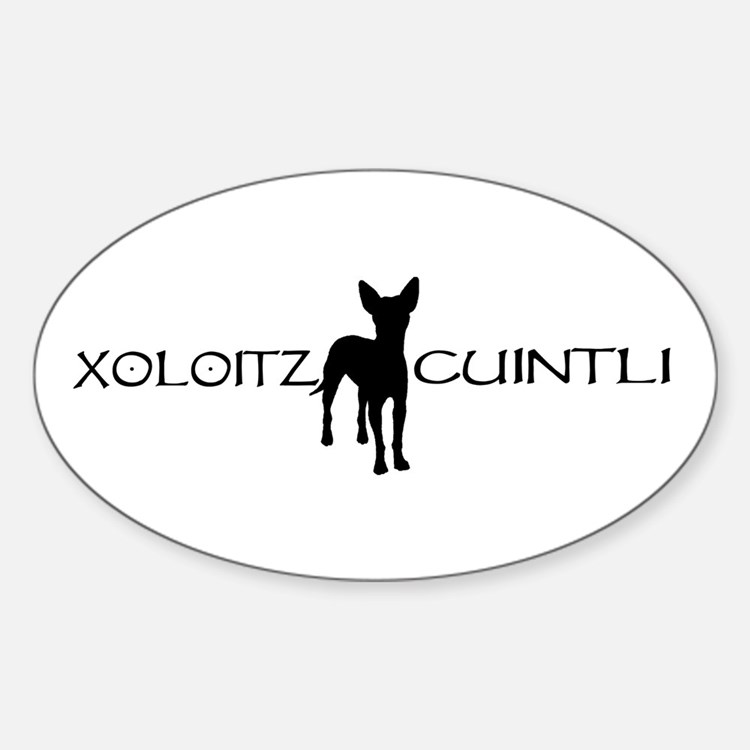 xoloitzcuintli Oval Decal