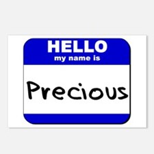hello my name is precious  Postcards (Package of 8