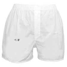 18th year birthday designs Boxer Shorts