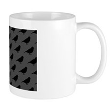 shower birds black rug 2 Mug