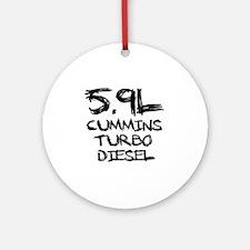5.9 L Cummins Turbo Diesel Round Ornament