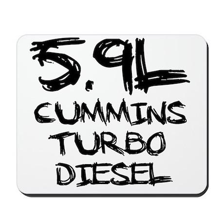 5.9 L Cummins Turbo Diesel Mousepad by ADMIN_CP75418928