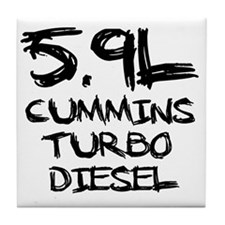 5.9 L Cummins Turbo Diesel Tile Coaster