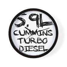 5.9 L Cummins Turbo Diesel Wall Clock