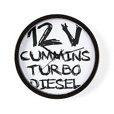12 V Cummins Turbo Diesel Wall Clock