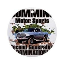 Cummins Motor Sports Round Ornament