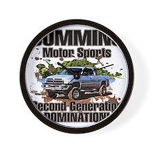 Cummins Motor Sports Wall Clock