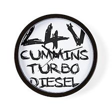 24 V Cummins Turbo Diesel Wall Clock