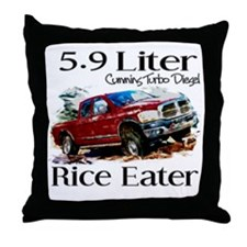 5.9 Liter Cummins Throw Pillow