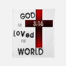 Gods Love 3:16 Throw Blanket