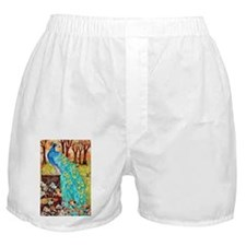 Poetic Peacock Boxer Shorts
