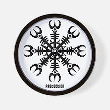 Helm of awe - Aegishjalmur No.2  Wall Clock
