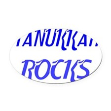 HANUKKAH ROCKS 4 Oval Car Magnet