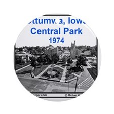 Tile-Central Park 1974 from atop ho Round Ornament
