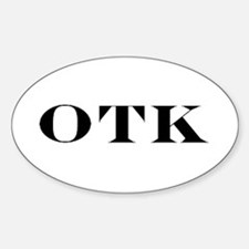 OTK Oval Decal