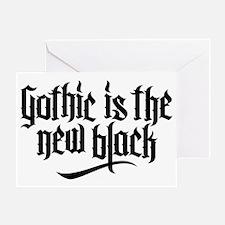 Gothic new black No.1 Greeting Card