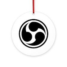666 Triple Six (black) Round Ornament