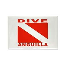 Dive Anguilla Rectangle Magnet (100 pack)
