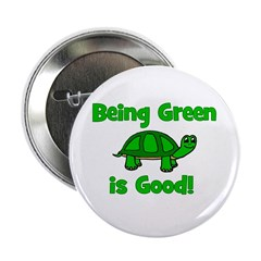 Being Green Is Good! -Turtle Button