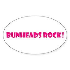 """Bunheads Rock!"" Oval Decal"